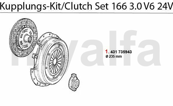 CLUTCH SET 3.0 V6 24V