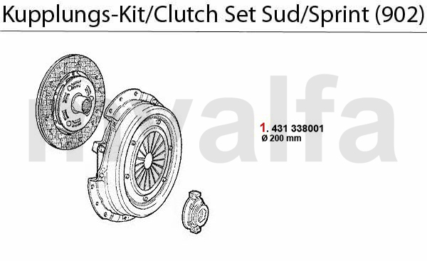 CLUTCH SET Sud/Sprint (902) 1.3/1.5/1.7/