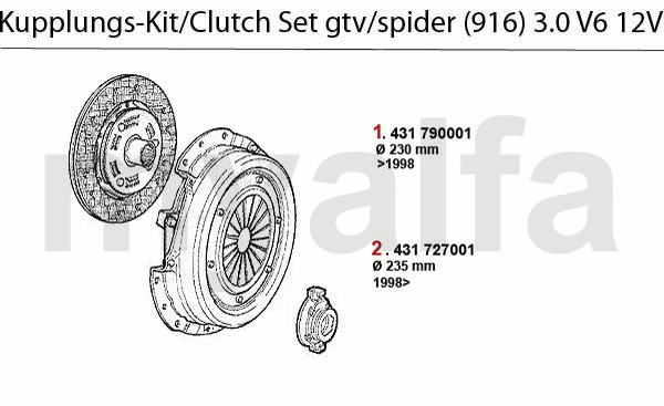 CLUTCH SET 3.0 V6 12V