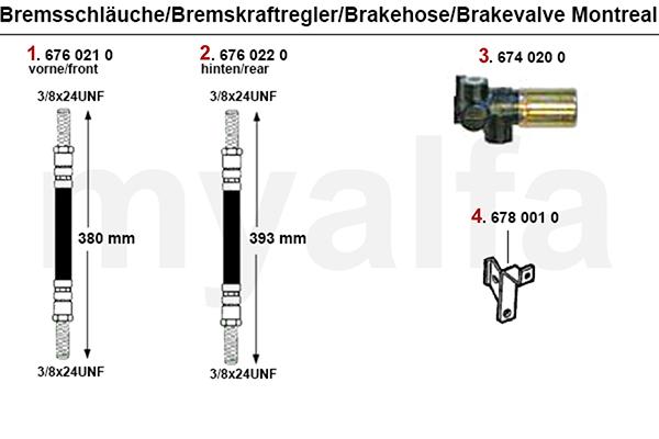 BRAKE HOSES/BRAKE VALVE
