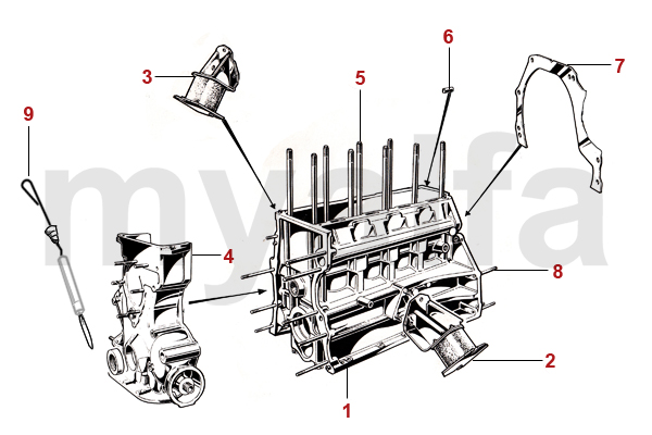 alfa romeo spider engine assembly diagram