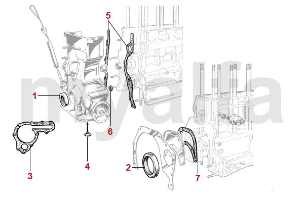 Alfa Romeo Giulia Motordichtungen Motor, Motorteile & Alfa Romeo Kolben