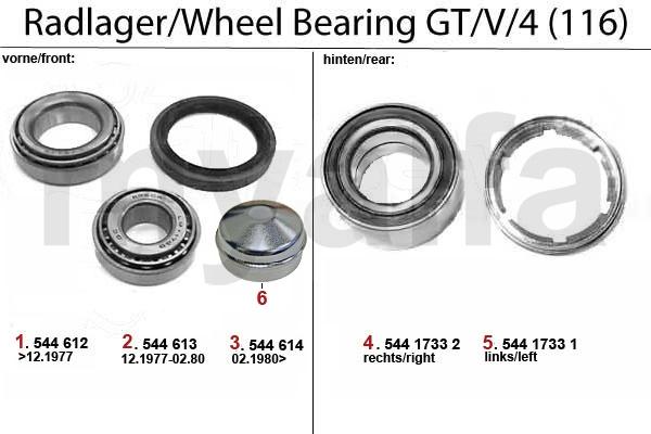 WHEEL BEARING GT/V/4