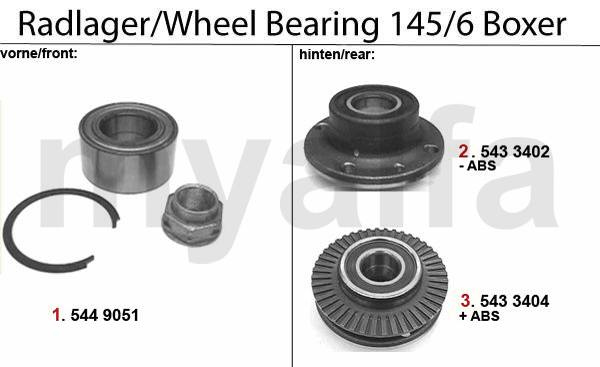 WHEEL BEARING BOXER >1996