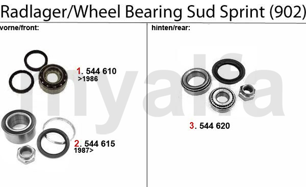 WHEEL BEARING Sud Sprint (902)