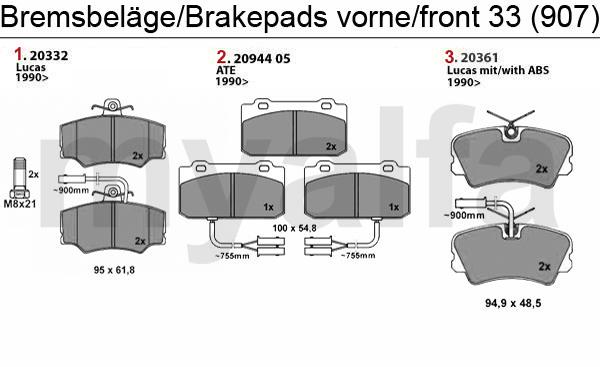 BRAKE PADS 907 FRONT