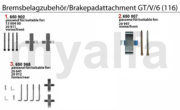 BRAKE PAD ATTACHMENT