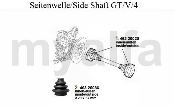 SIDE SHAFT GT/V/4
