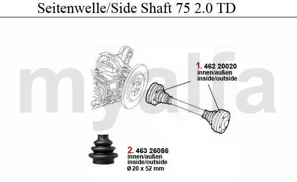 SIDE SHAFT 2.0 TD