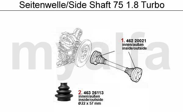 SIDE SHAFT 1.8 Turbo