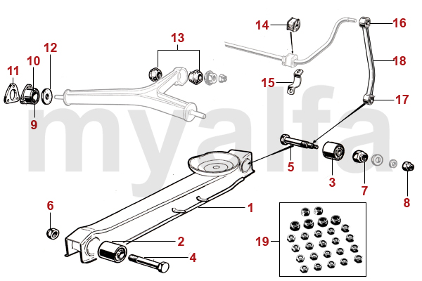 TRAILING ARMS/T-BAR
