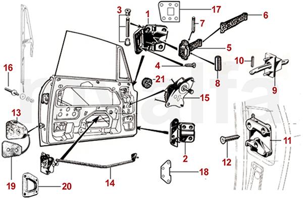 Tankstutzengummi Alfa Roemeo GT Bertone 105//115 Bj.1963-1977