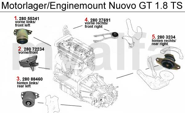 Motorlager 1.8 TS 16V