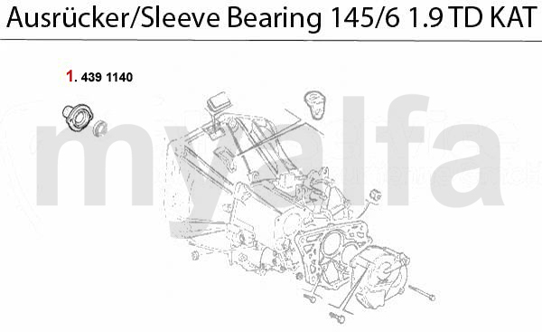 GUIDE BUSH f. SLEEVE BEARING 145/6 1.9 T