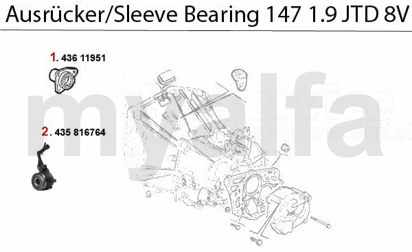 SLEEVE BEARING 1.9 JTD 8V