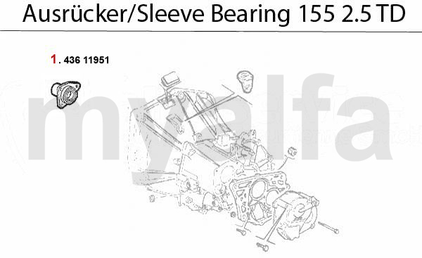 GUIDE BUSH f. SLEEVE BEARING 2.5 TD
