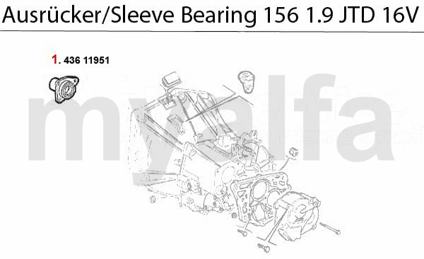 GUIDE BUSH f. SLEEVE BEARING 1.9 JTD 16V