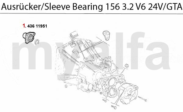 GUIDE BUSH f. SLEEVE BEARING 3.2 V6 24V/