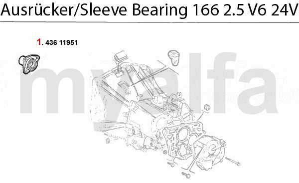 Führungshülse f. Ausrücker 2.5 V6 24V