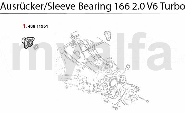 Führungshülse f. Ausrücker 2.0 V6 Turbo