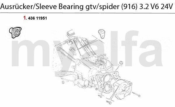 Führungshülse f. Ausrücker 3.2 V6 24V