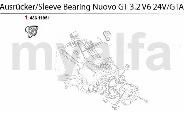 GUIDE BUSH f. SLEEVE BEARING 3.2 V6 24V/