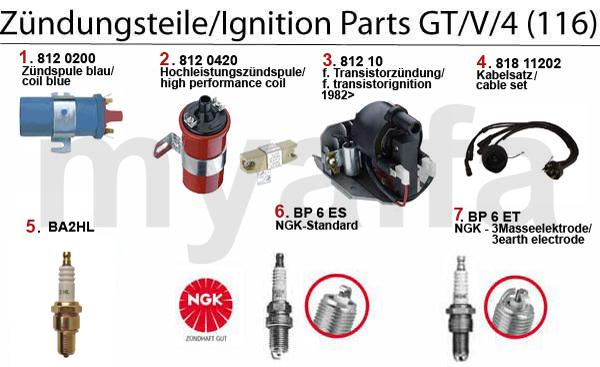 IGNITION PARTS GT/V/4 (116)